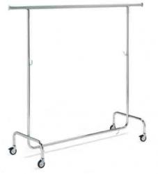 209/R/80 výškově nastavitelný konfekční štendr, šířka 143 cm, výška 106-200 cm
