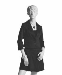 Dámská figurína Adela bílá, postoj 5, prolisované vlasy
