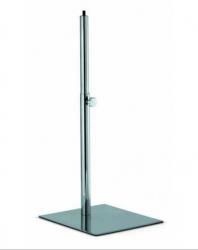 965000B Noha krátká, chromová, základna 30x35 cm