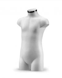 BU9362 Dětské torso, bílé 6-9 let
