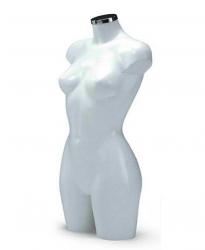 BU9452 Dámské torzo, dlouhé bílé