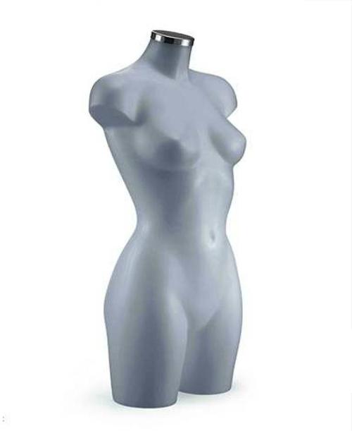 BU9453 Dámské torzo, dlouhé šedé