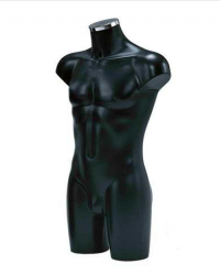 BU9460 Pánské torzo, dlouhé černé