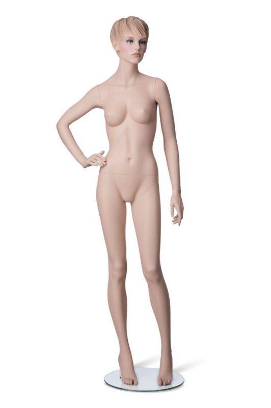 Dámská figurína Adela tělová, postoj 3, prolisované vlasy