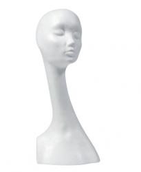 Hlava dámská Dana, bílá
