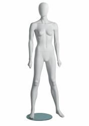 Metro Female Fitness A sportovní figurína, abstraktní hlava, bílá