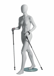 Metro Female Walker sportovní figurína, abstraktní hlava, bílá