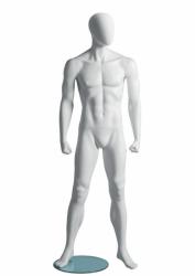 Metro Male Fitness A sportovní figurína, abstraktní hlava, bílá