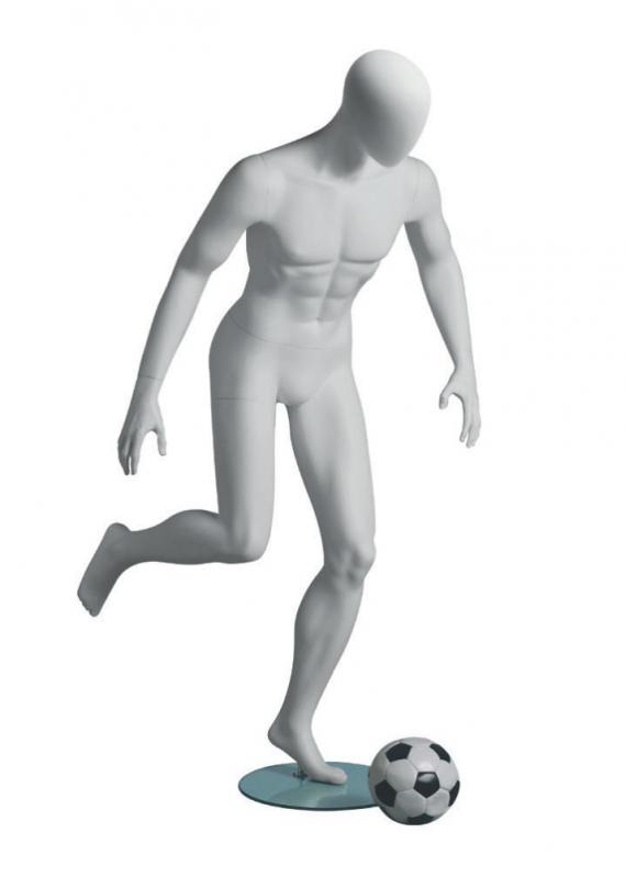 Metro Male Soccer sportovní figurína, abstraktní hlava, bílá