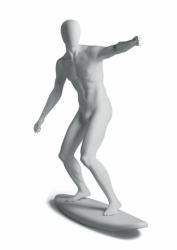 Metro Male Surfer sportovní figurína, abstraktní hlava, bílá