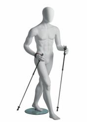 Metro Male Walker sportovní figurína, abstraktní hlava, bílá