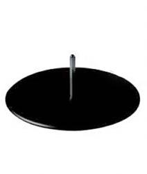 Podstavec k pohybovatelné figuríně dámské a pánské, Ø 40 cm, černá barva