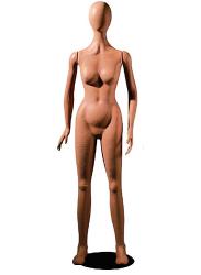 Poly Star Lady, pohybovatelná dámská figurína, provedení flock, tělová s abstraktní hlavou