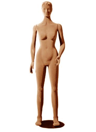 Poly Star Lady, pohybovatelná dámská figurína, tělová s vlasy, provedení flock