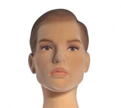 Poly Star Lady, pohybovatelná dámská figurína, tělová s vlasy, provedení flock, s make-up