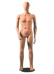 Poly Star Man, pohybovatelná pánská figurína, provedení flock, tělová s abstraktní hlavou
