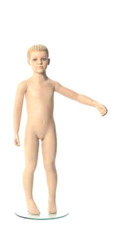 Q-Kids dětská figurína Mason 4 roky, postoj 2, prolisované vlasy, tělová