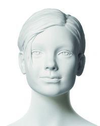 Q-Kids dětská figurína Cher 10 roků, postoj 2, prolisované vlasy, bílá