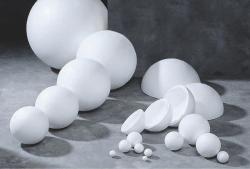 Polystyrenová koule ∅ 15cm, č. 140.4310.0150.0000, bílá