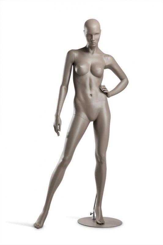 Dámská figurína Coy, figurína s lesklými rty, pozice C1104, barva RAL 7006