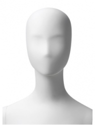 Retro dámská, postoj 3, hlava Kara, bílá matná