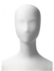 Retro dámská, postoj 5, hlava Kara, bílá matná