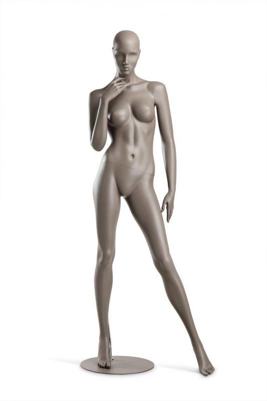 Dámská figurína Coy, figurína s lesklými rty, pozice C1101, barva RAL 7006