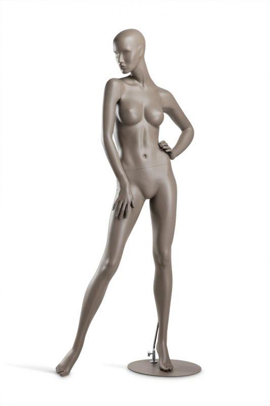 Dámská figurína Coy, figurína s lesklými rty, pozice C1103, barva RAL 7006