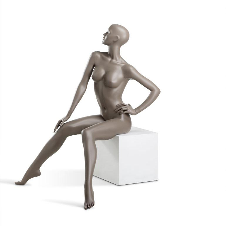 Dámská figurína Coy, figurína s lesklými rty, pozice C1106, barva RAL 7006