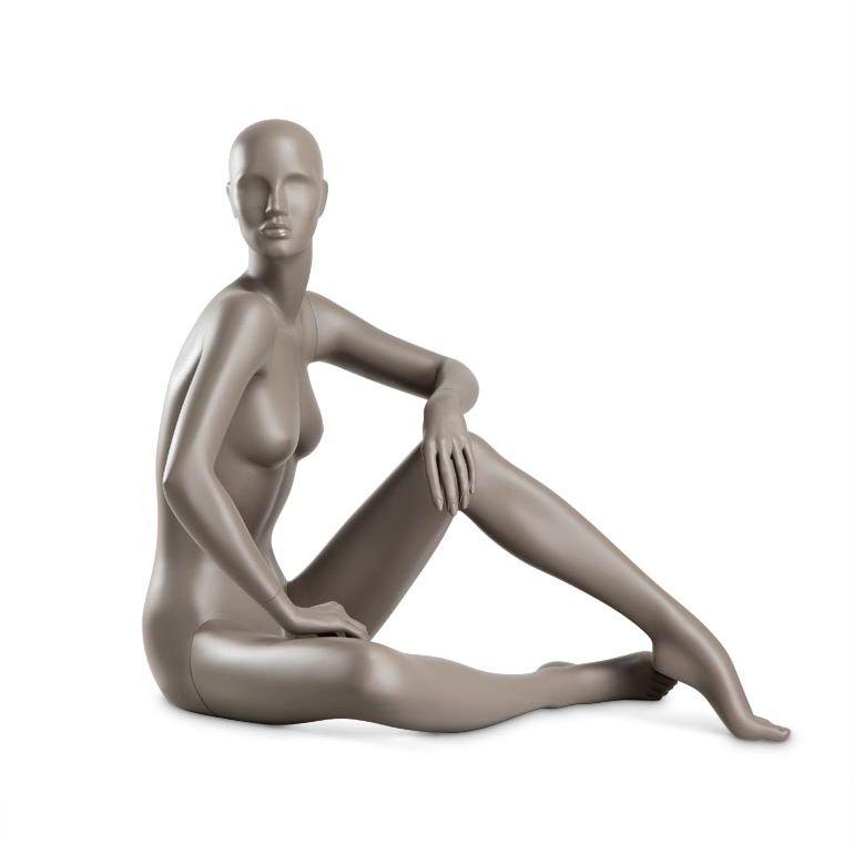 Dámská figurína Coy, figurína s lesklými rty, pozice C1107, barva RAL 7006