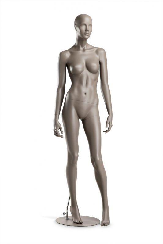 Dámská figurína Coy, figurína s lesklými rty, pozice C1108, barva RAL 7006
