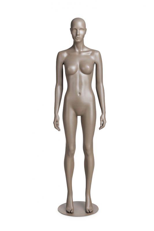 Dámská figurína Coy, figurína s lesklými rty, pozice C1109, barva RAL 7006