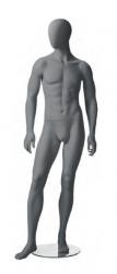 Metro Male, postoj 3, pánská figurína, abstraktní hlava, šedá, nano – povrchová úprava