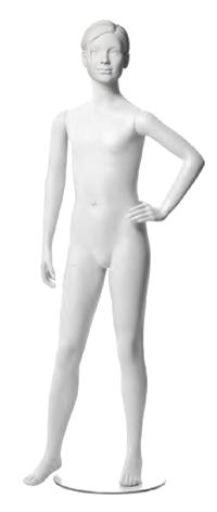 Q-Kids dětská figurína Cher 10 roků, postoj 1, prolisované vlasy, bílá