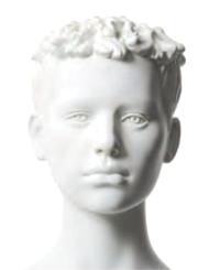 Q-Kids dětská figurína Gilbert 12 roků, postoj 1, prolisované vlasy, bílá