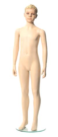 Q-Kids dětská figurína Morris 10 roků, postoj 2, prolisované vlasy, tělová