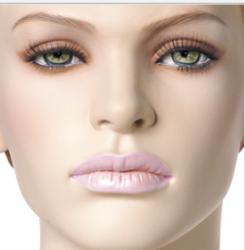 """SHOWGIRLS postoj 6,hlava Demi, Make-up """"Biarritz"""",barva """"ccm"""" , hlava na paruku"""