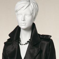 Dámská figurína Irene bílá, postoj 2, prolisované vlasy