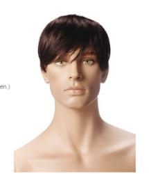 Pánská figurína Nik tělová, postoj 3, hlava na paruku, make-up