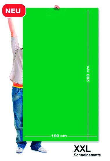 Řezací podložka 200x100 cm, zeleno/zelená, jednostranná, tloušťka 3 mm