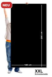 Řezací podložka 200x100 cm, černo/černá, jednostranná, tloušťka 3 mm