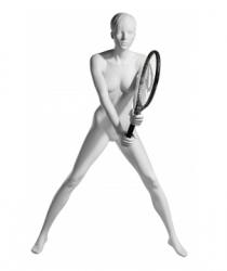Athletix sportovní figurína, posice AHF-03, hlava Ava, bílá