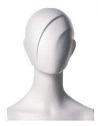 Chelsea, postoj 3, hlava Shape, bílá matná