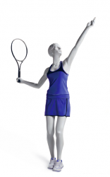 Athletix sportovní figurína, posice AHF-04, bílá