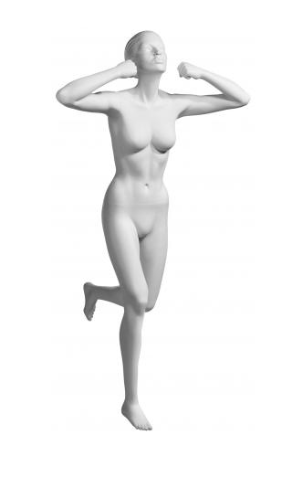 Athletix sportovní figurína, posice AHF-16, bílá