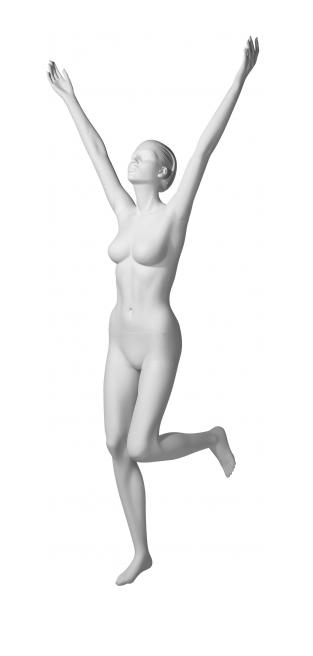 Athletix sportovní figurína, posice AHF-17, bílá