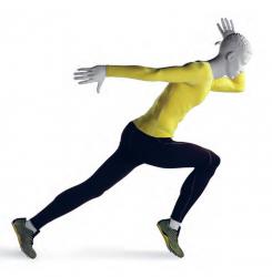 Athletix sportovní figurína, posice AHM-01, bílá