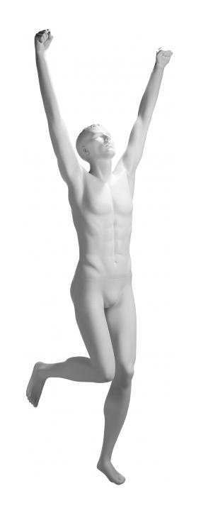 Athletix sportovní figurína, posice AHM-03, bílá