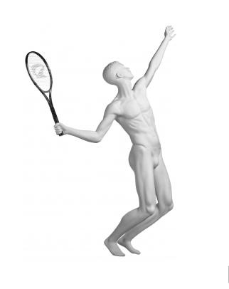 Athletix sportovní figurína, posice AHM-05, bílá
