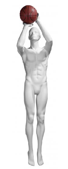 Athletix sportovní figurína, posice AHM-06, bílá